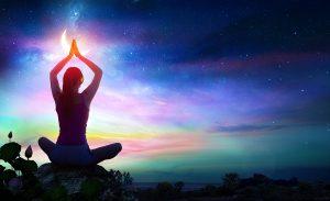 campo de energía en el cuerpo